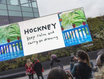 Картина Хокни, нарисованная на iPad, легла в основу DOOH кампании его выставки