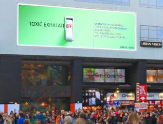 Билборды начинают бороться с загрязнением воздуха в Лондоне