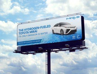 Билборды Toyota Mirai начнут очищать воздух в Калифорнии