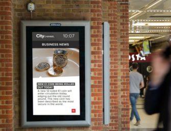 JCDecaux запустил на ж/д станциях в Лондоне деловой телеканал
