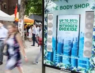 Реклама The Body Shop очищает воздух Лондона