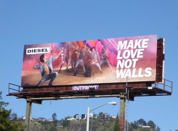 Diesel-Make-love-not-walls-billboard