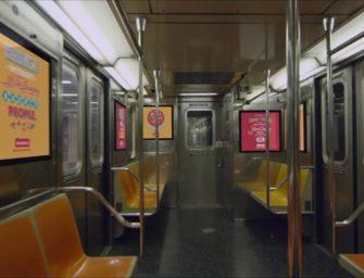 В Нью-Йорке показали транизитную рекламу будущего