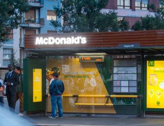 Наружная реклама помогла продемонстрировать удобство сервиса McDelivery в Милане