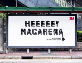 Липкая лента 3M в гонконгской наружной рекламе прилипчива, как хиты 90-х