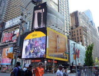 Сантехнический бренд American Standard устроил виртуальный душ на Таймс-сквер