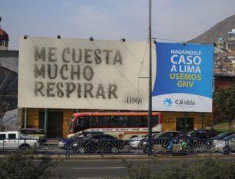 В Лиме выхлопные газы поставили на службу наружной рекламе