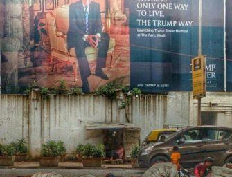 Эта фотография билборда Трамп-тауэр в Мумбаи — не фейк