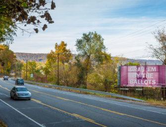 В наружной рекламе США к промежуточным выборам готовится грандиозная художественная галерея