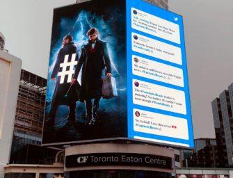 Твиттер представил «Фантастических тварей» Роулинг в знаменитых OOH-локациях