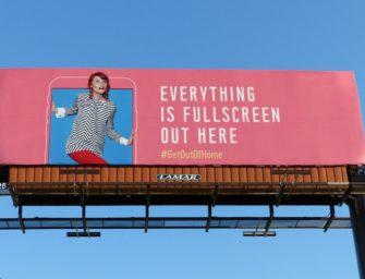 В США проходит гигантская промо-кампания OOH-медиа: Get Out Of Home