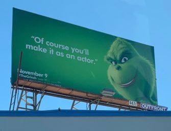 Промо «Гринча» в наружной рекламе обсуждают в социальных медиа