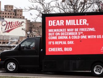 Budweiser предложил конкурентам вместе отпраздновать годовщину отмены «сухого закона»