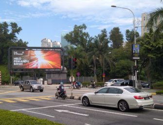 Shell обратился к водителям в Куала-Лумпуре через персонализированную наружную рекламу