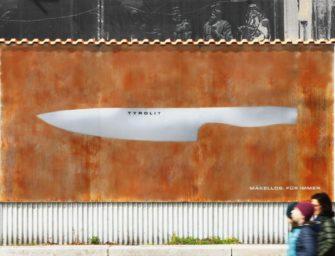 Лучшая реклама для кухонных ножей — ржавый билборд