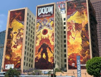 Рекламное место на стенах отеля Figueroa перед E3 2019 заняла DOOM Eternal