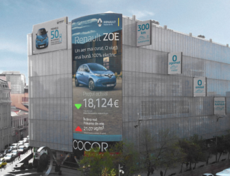 Билборд Renault дает скидку на электрокары в зависимости от уровня загрязнения воздуха