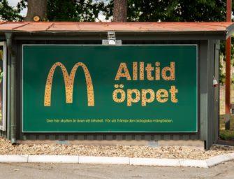 В билборде McDonald's разместили отель для пчел