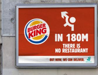 Burger King разместил указатели, которые никуда не ведут