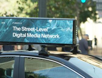 Американский оператор рекламы на такси Firefly внедряет инновационные экраны