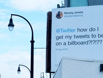 Пользователи Twitter попросили поместить свои твиты на билборды. Компания исполнила их желание