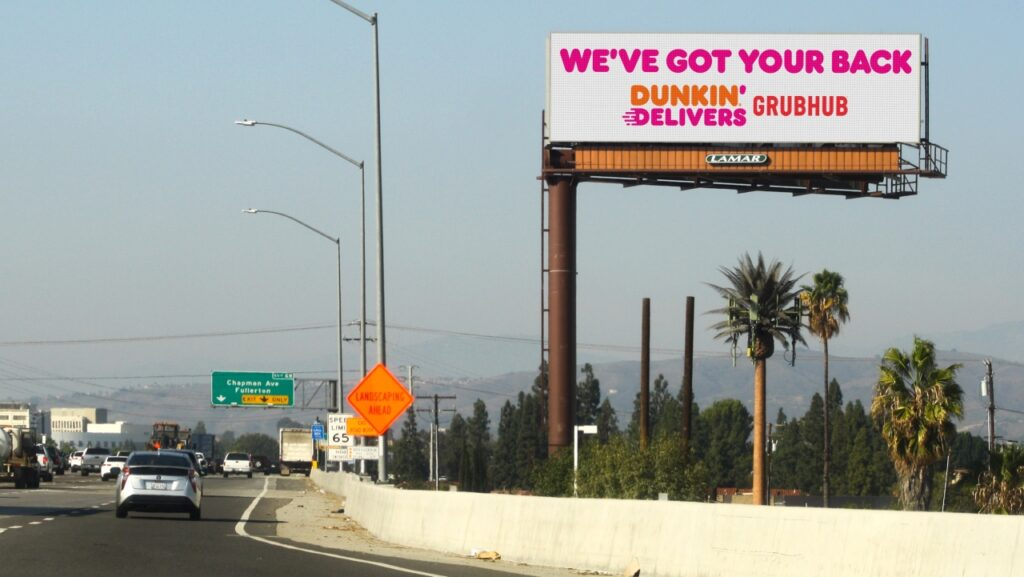 Dunkin'-Donuts-and-Grubhub-billboard