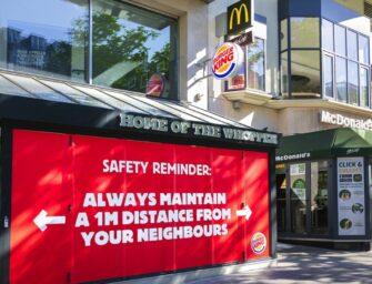 Burger King держит дистанцию с соседним заведением McDonald's