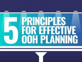 Пять принципов эффективного планирования OOH рекламы