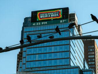 Новая антивирусная реклама в Нью-Йорке обладает «концентрической» магией