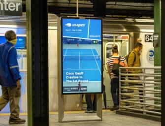 Outfront Media предложил пассажирам нью-йоркской подземки массу развлекательного контента