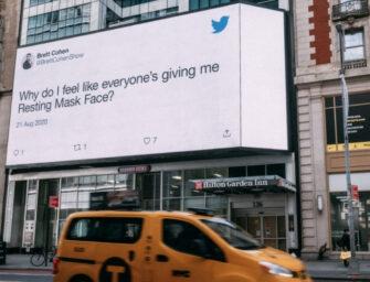 Twitter сделал из твитов о ношении масок новую OOH кампанию