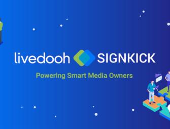 Создатели платформ LiveDOOH и Signkick объединяются