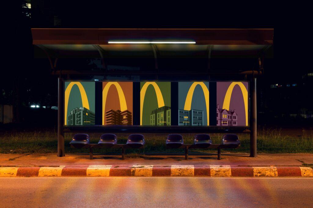 McDonald's-Lights-On-billboard