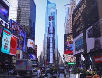 Samsung и D'Strict создали цифровой водопад на Таймс-сквер