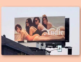 Как бренд купальников Andie сочетает маркетинг влияния и наружную рекламу