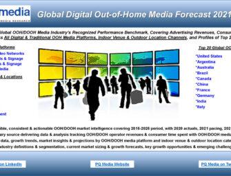 Международный рынок OOH-рекламы до 2025 будет увеличиваться на 7,3% в год, — прогноз PQ Media